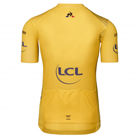 """Le Coq Sportif Tour de France """"Champs Elysées """" Yellow Cycling Jersey"""