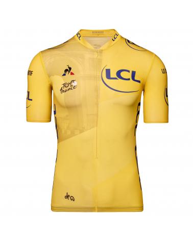 """Maillot Cyclisme Le Coq Sportif Tour de France Maillot Jaune """"Champs Elysées """" Enfant"""