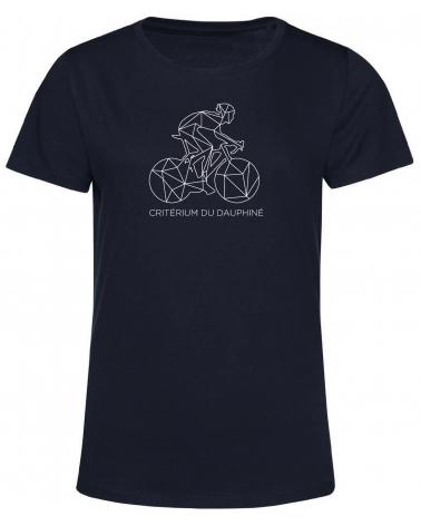 T-shirt Critérium du Dauphiné Décalqué Femme blue marine
