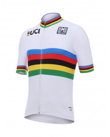 Maillot Cyclisme Santini UCI Champion du Monde Arc En Ciel