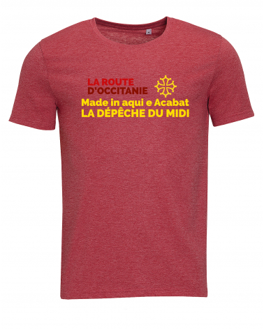 "T-shirt La Route d'Occitanie La Dépêche du Midi "" Made In Aqui "" Homme"
