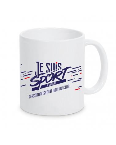 """Mug """" Je Suis Sport """" Blanc"""