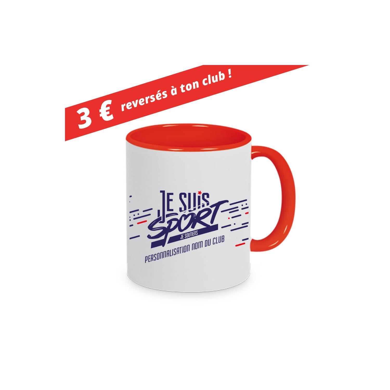 """Mug  """" Je Suis Sport """" Rouge"""