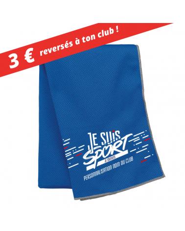 "Serviette Micro Fibre "" Je Suis Sport "" Rafraichissante"