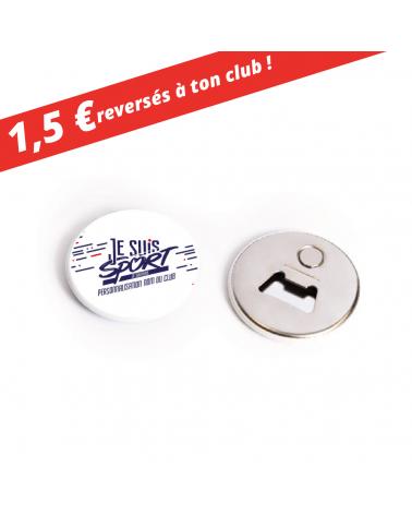 """Décapsuleur Magnet """" Je Suis Sport """""""
