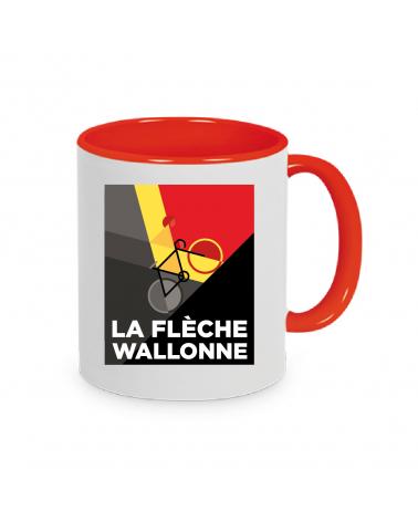 Mug Flèche Wallonne Plein Rouge Personnalisation