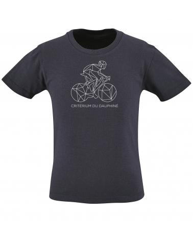 T-shirt Critérium du Dauphiné Décalqué Enfant Bleu Marine Personnalisation