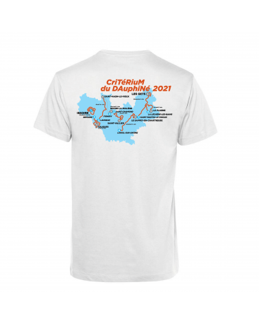 T-shirt Critérium du Dauphiné Parcours 2021 Personnalisation