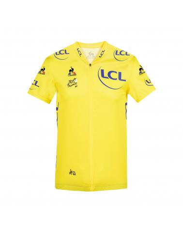"""Maillot Jaune cyclisme Le Coq Sportif Tour de France """"Grand départ 2021 """""""