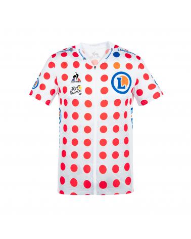 """Maillot à Pois Cyclisme Le Coq Sportif Tour de France  """"Grimpeur"""" 2021 Enfant"""