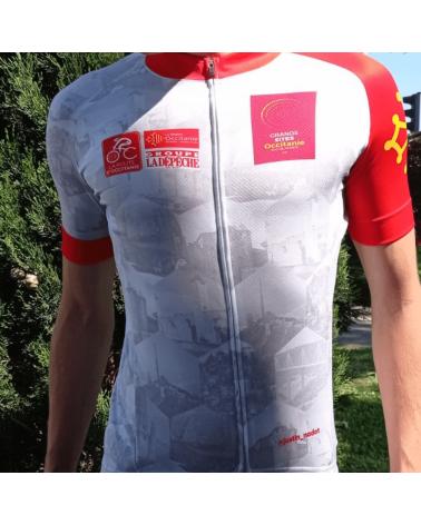 """Maillot Cyclisme Mstina La Route d'Occitanie La Dépêche du Midi """"Romègue Pas et Pasa Davant """""""