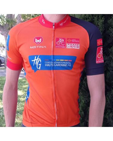 """Maillot Cyclisme Mstina La Route d'Occitanie La Dépêche du Midi """" Leader du Classement Général"""""""