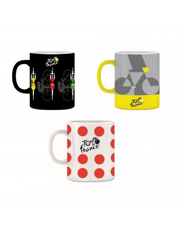 Set De 3 Mugs Tour de France Vélo Maillots Pois