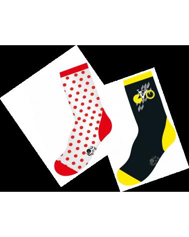 Chaussettes Tour de France Coffret de 2 Paires