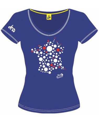 T-shirt Tour de France Graphique Bulle Femme