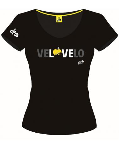 T-shirt Tour de France Graphique VeLOVElo Femme
