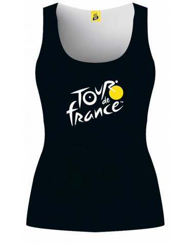 Tour de France Logo Woman Black Tank Top