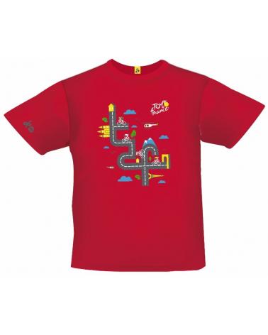 T-shirt Tour de France Graphique Rouge Enfant