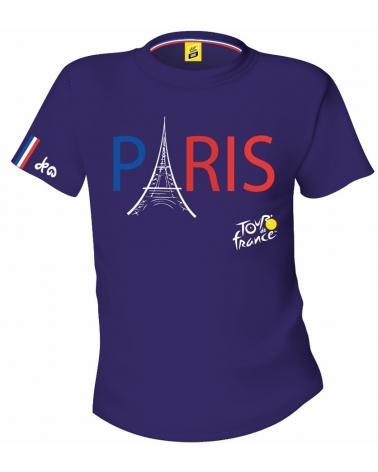 Tour de France Paris Man Blue Shirt