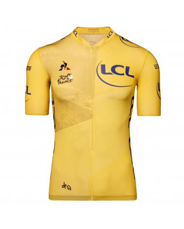 """Le Coq Sportif Tour de France Maillot Jaune """"Grand départ 2020"""" Yellow Cycling Jersey"""