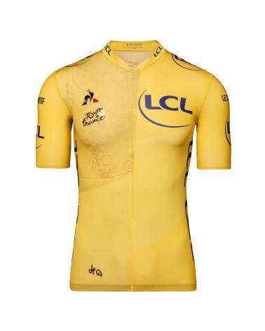 """Maillot Cyclisme Le Coq Sportif Tour de France Maillot Jaune """" Col Etape 17"""""""