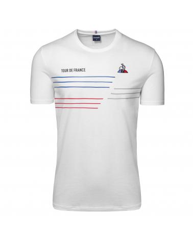T-Shirt Le Coq Sportif Tour de France TDF 2020 Homme Blanc