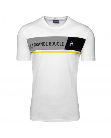 T-shirt Tour de France Le Coq Sportif La Grande Boucle 2020 Blanc