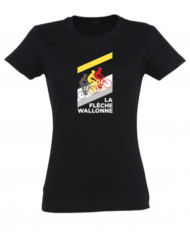 T-shirt Flèche Wallonne Mur Femme