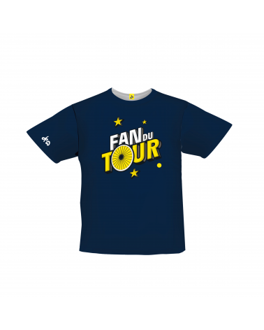 T-shirt Tour de France Graphique Fan du Tour Bleu Enfant