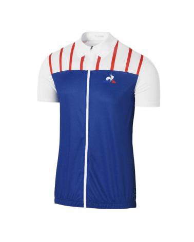 Tour de France Le Coq Sportif Royal Blue White Cycling Jersey