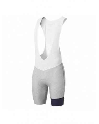 Tour de France Premium White Grey Bib Short