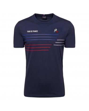T-shirt Le Coq Sportif Tour de France TDF 2020 Homme Bleu