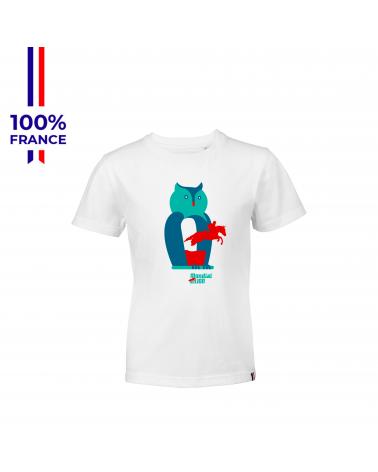 """T-shirt Mondial du Lion """"Le Hibou"""" Enfant"""