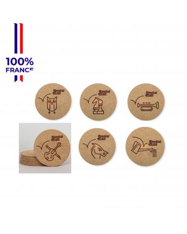 """Sous-Verre Mondial du Lion """"Le Bock"""" Pack x 6"""
