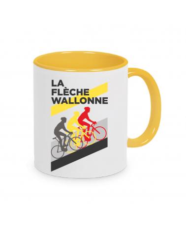 Mug Flèche Wallone Plein Jaune