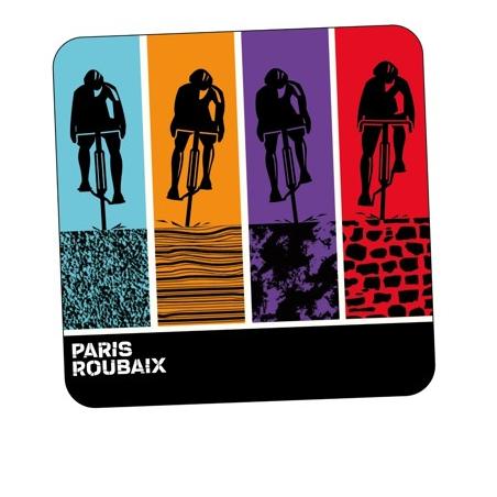 Sous-verre Paris Roubaix Sous Chope Blanc