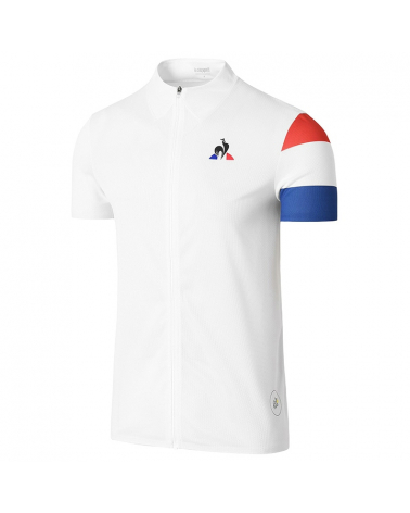 Maillot Cyclisme MC zippé Coq Sportif Tour de France Jersey Optical