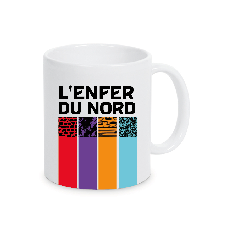 Mug Paris Roubaix Plein Blanc Enfer du Nord