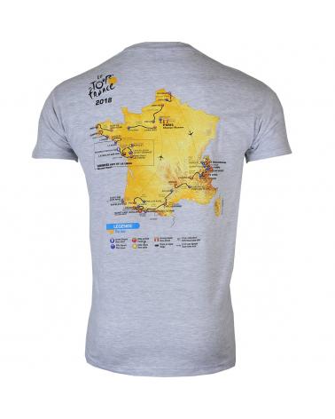 T-shirt Parcours Tour de France 2018 Homme