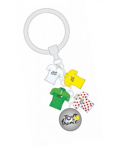 Porte-Clés Tour de France 4 Maillots Breloque