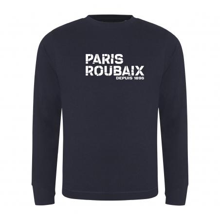 Sweat Paris Roubaix Coup de Grisou Logo  Bleu