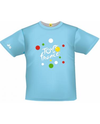 T-shirt Tour de France Graphique Bleu Enfant